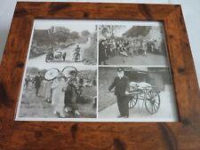 La Gran Bretagna IERI & OGGI Carlton incorniciato Nero Bianco 1940s 4 immagine MIX inglese