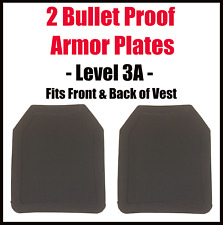 Level 3-A Bullet Proof Plate for Vest Backpack - 2 Armor Plates