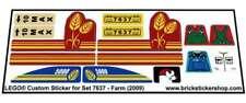 Replica Pre-Cut Sticker for Lego® City Farm set 7637 - Farm (2009)