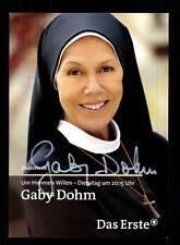 Gaby Dohm Um Himmels willen Autogrammkarte Original Signiert # BC 64972