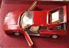 BURAGO FERRARI TESTAROSSA (1984) RED DIECAST MODEL CAR - SCALE 1/24