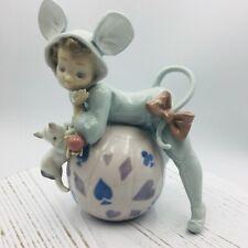 "Lladro #05881 ""Mischievous Mouse"" Retired Porcelain Figurine Glazed Orig Box"
