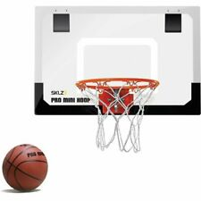 Indoor Basket Ball Hoop Set Jam Slam Small Scale Door Wall Bed Board Goal Net