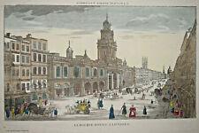 BOURSE ROYALE LONDRES Gravure VUE OPTIQUE Basset LONDON England 1830