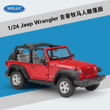 Welly 1:24 Jeep Wrangler Convertible Diecast Metal Model Car New in Box Red
