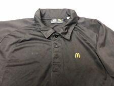 McDonalds Uniform Polo Employee Work Shirt Short Sleeve Blue And Black M A07