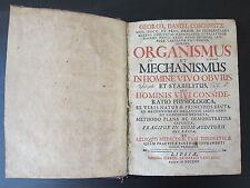 Organismus Et Mechanismus in Homine Vivo Obvius; Coschwitz, George Daniel; 1725