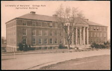 COLLEGE PARK MD University of Maryland Agricultural Building Vtg Postcard Old PC