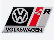 Brushed Aluminium Black Volkswagen VW R Badge R32