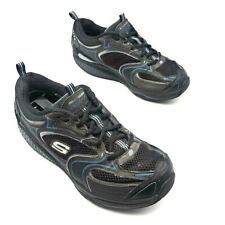Skechers Shape Ups Mens Walking Shoes Black Blue 2010 Lace Up Toning Sneaker 9.5