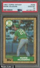 1987 Topps Tiffany #366 Mark McGwire Oakland A's RC Rookie PSA 10 GEM MINT