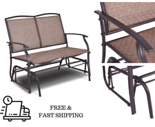 Patio Rocking Loveseat Chair Glider Metal Swing Bench Furniture Table 2 Seater