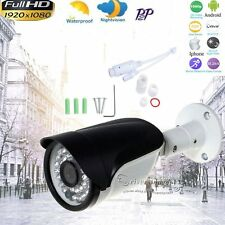 Security Outdoor HD 1080P 2.0MP POE IP Camera Webcam IR-Cut P2P ONVIF CCTV  Cam