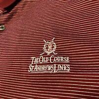 The Old Course St. Andrews Links Bobby Jones 10th Hole S/S Polo Men Sz XL Golf
