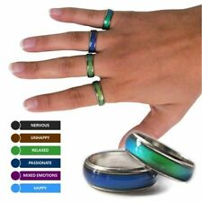 Glass Stainless Steel Costume Rings
