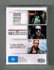 The Day The Earth Stood Still / Terminator / I,Robot (3-Movie) Dvds New & Sealed