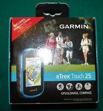 New In Box Garmin eTrex Touch 25 Gps Topo Worldwide Maps Free Shipping