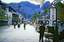 35mm Slide - The Seafront, Miyajima, Japan, 1958