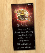 Strictly Come Dancing Gift Card Voucher Christmas Birthday Ticket with envelope