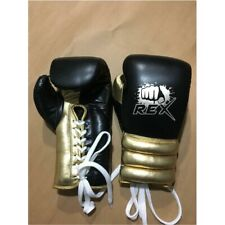 Golden Black Cowhide Leather Boxing Gloves For Training Sparring & Competition