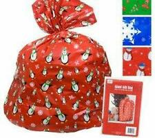 "OVERSIZED CHRISTMAS GIFT BAGS SET OF 6 HOLIDAY GIFT WRAP HUGE 36""X44"" SHIPS FREE"