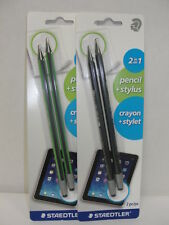Staedtler Wopex 2 in 1 Stylus Pencils 2pks for the price of 1pk. New! Great Deal