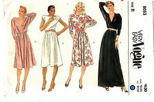 Vogue Sewing Pattern Women's LONG OR SHORT DRESS 8053 Size 8-10 UNCUT