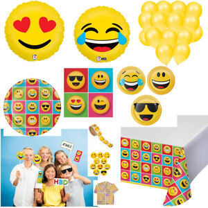 Emojis Kids Birthday Party Supplies for 8 Plates Napkins Tablecloth Photo Props