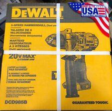 DEWALT 1/2-in 20-Volt Max Variable Speed Cordless Hammer Drill DCD985B BRAND NEW