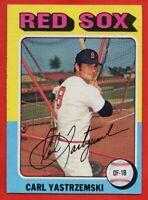 1975 Topps #280 Carl Yastrzemski EX CREASE HOF Boston Red Sox FREE SHIPPING
