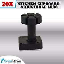20 X Plastic Kitchen Cupboard Adjustable Legs Vanity Laundry Garage