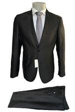 Abito uomo Confitalia, nero a righe DROP 6, giacca 2 bottoni, sconto 80%.