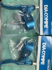 Dia Comp Diatech Tech 99 Right And Left Hand Blue Brake Levers Bmx
