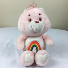 """A59 Vintage Care Bears Pink Cheer Bear Plush 12"""" Stuffed Toy Lovey"""