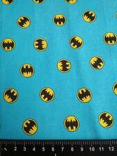Batman Blue Logo DC Comics 100% Cotton Woven Facemasks Crafts Shirts