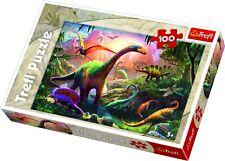 Trefl 100 Piece Kids Large Dinosaur Land Animals Fantasy Floor Jigsaw Puzzle NEW