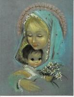 Vintage Retro Mary & Baby Jesus Regency Art Christmas Card Jumbo Made in USA
