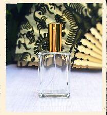 3 Parfum Flakons - leer - rechteckige Form - 50 ml gold - nachfüllbar - NEU