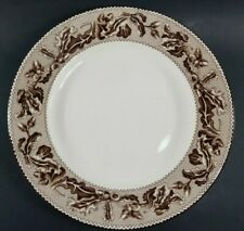 "New ListingWedgwood Plymouth Williams Sonoma Dinner Plate 10 3/4"" Brown Acorn Oak Fall"