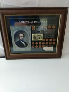A Memorial To Lincoln - The New York Historical Society  Framed Penny Collection