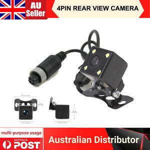 Mini 4PIN Car Reversing Camera Rear View 4 LEDs Night Vision 12V 24V 170° HD