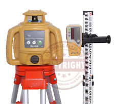 New Topcon Rl H5b Self Leveling Rotary Laser Level Package Transitrl H4cinch