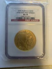 2006 American Buffalo Gold $50 NGC First Strike MS 70 One-Ounce .9999 Fine