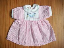 ♫ Vêtement Corolle poupon poupée 30 cm : robe saute-mouton collection de 1998  ♫