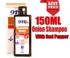 911 Zwiebel Extrakt Shampoo 150ML Haarausfall, Stimuliert Haarwachstum mit Roter
