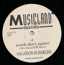 (VACATION IN HARLEM-Words Don't Matter/Blues Singer)-Alex Burns-H7-7