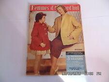 FEMMES D'AUJOURD'HUI AVEC PATRON N°536 07/08/1955 MODE TRICOT COUTURE    I33