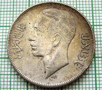 I R A Q KINGDOM GHAZI I 1938 - AH1357 50 FILS, SILVER TONED
