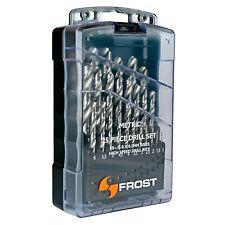 Frost METRIC DRILL BIT SET 25Pcs,1-13mm In 0.5mm Rise,High Speed Steel*AUS Brand