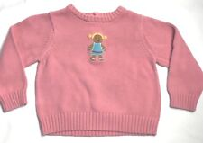 Gymboree Gingerbread Sugar and Spice Sweater Girls Size 3T Pink Holiday